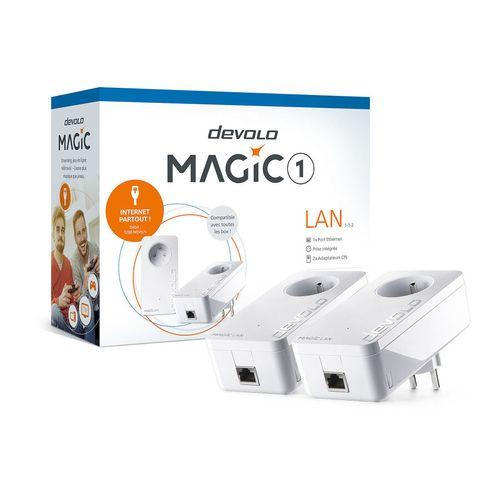 CPL Filaire DEVOLO Magic 1 LAN 2 adaptateurs [546017] FONCTIONNEL (Emballage d'O…