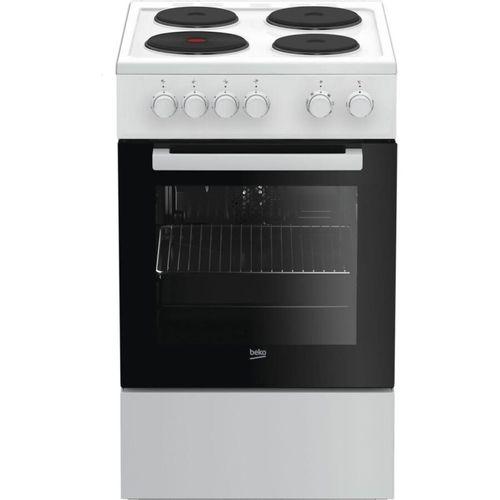 Cuisinière électrique BEKO FSS56000GWC L50 x P60 cm 4 foyers électrique Four con…