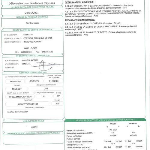 208 1.0 VTI PTEC 12V 68ch VP PEUGEOT 208 1.0 VTI PTEC 12V 68ch 1.0 PTEC Carrosse…