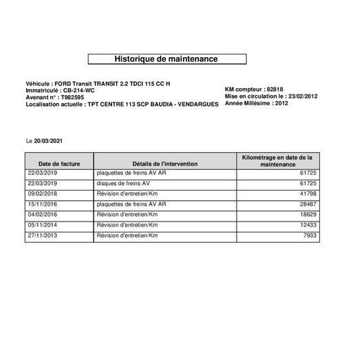 TRANSIT 2.2 TDCI 125cv CTTE FORD TRANSIT 2.2 TDCI 125cv 2.2 TDCI Carrosserie : B…