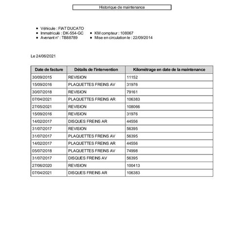 DUCATO 2.0 MJTD 16V 115cv CTTE FIAT DUCATO 2.0 MJTD 16V 115cv Carrosserie : FOUR…