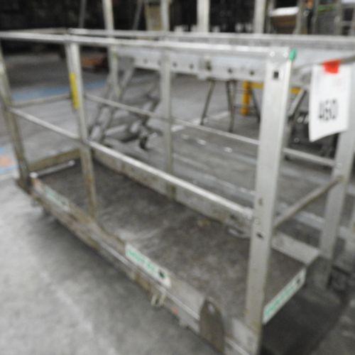 1 plateforme mobile en alumarque DISTEL, longueur 2 000 mm, largeur 600 mm