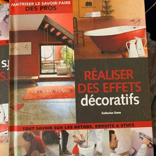 Lot de 4 livres neufs réaliser des effets décoratifs