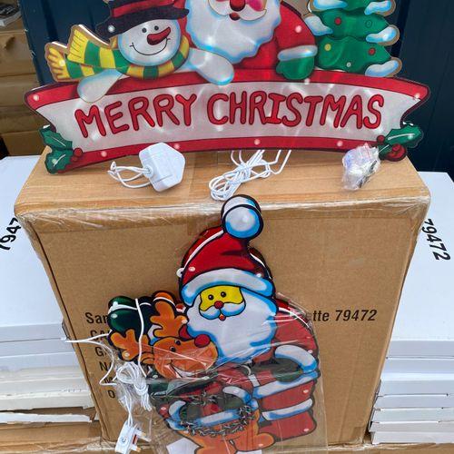 Lot de 90 grandes décorations lumineuses de Noël sans adaptateurs