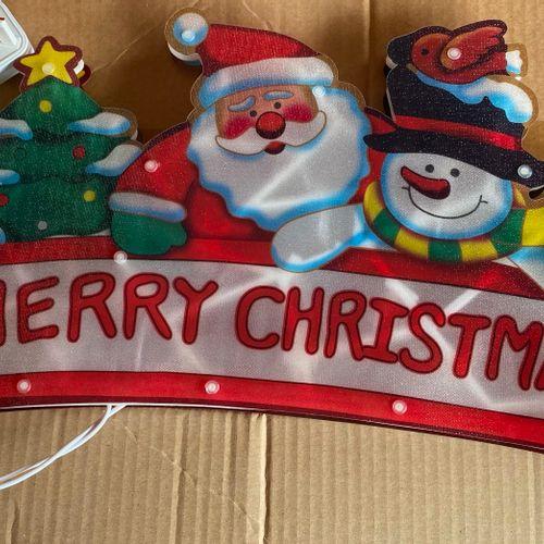 Lot de 4 guirlandes électriques de Noël (prise anglaise)