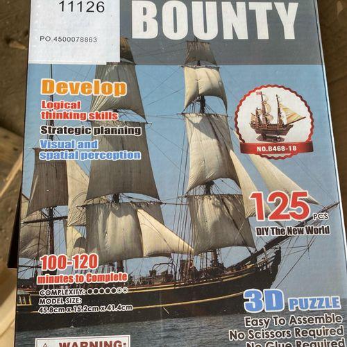 Lot de 11 puzzles bounty 3D