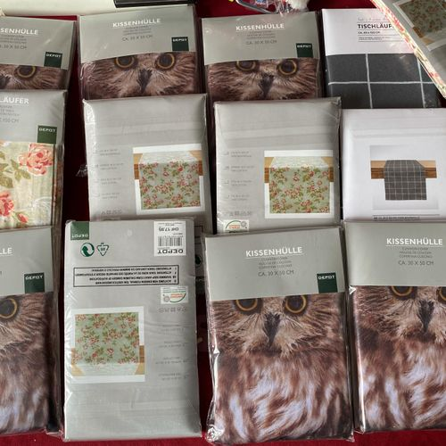 Lot de 9 pièces de linge de maison emballées