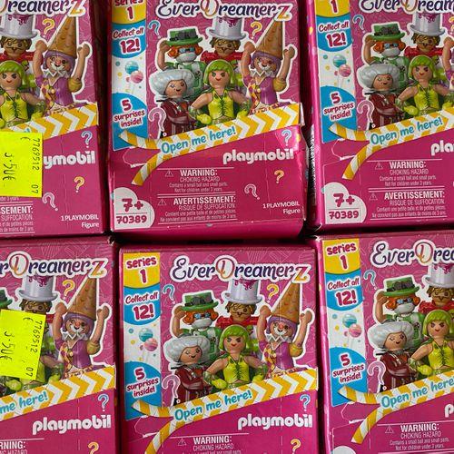 Lot de 20 boîtes de jeux type playmobiles