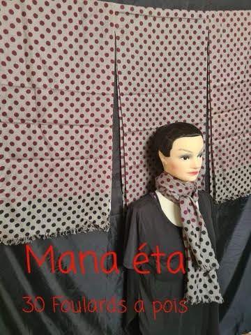 Lot de 30 foulards à pois de qualité