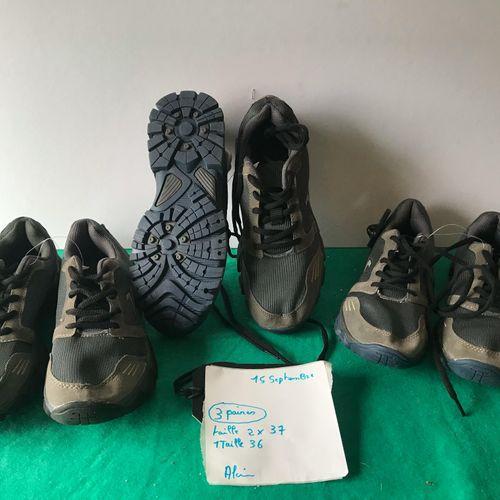 Lot de 3 paires de chaussures taille 36/37/37