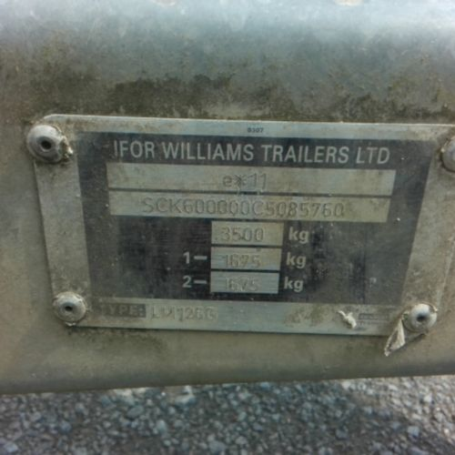 REM IFOR WILLIAMS TRAILER TRAILER 2 ESS 3500KG WITH RIDELOCK Dmec : 04/06/2012 B…