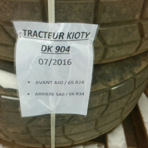 DIV MICHELIN 4 TRACTOR TIRES ON WHEELS FROM 2016 VAT recoverable Observations : …