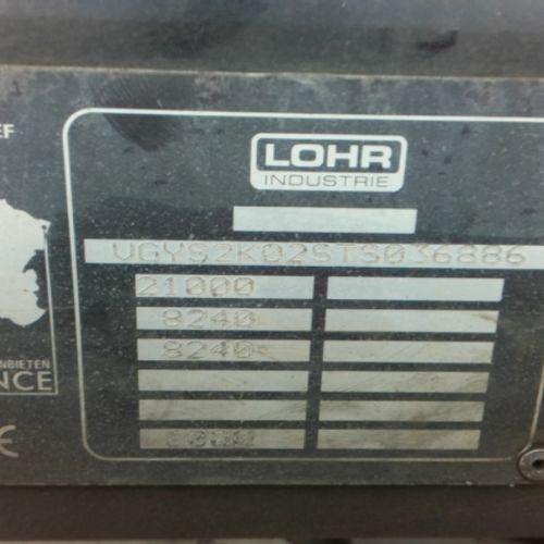 SREM LOHR SREM 2ESS 21T CARRIAGE 6 CARS Dmec: 18/12/1996 1Kms Color: BLACK VAT r…