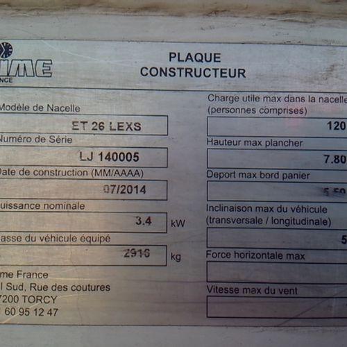 CTTE RENAULT MAXITY DCI 122 NACELLE Dmec: 16/09/2014 147394Kms 6CV Bodywork: WOR…