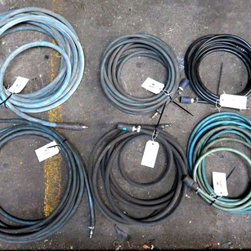 10 COMPRESSED AIR HOSES, AVERAGE LENGTH OF A HOSE: ABOUT 10 METERS. 1ER