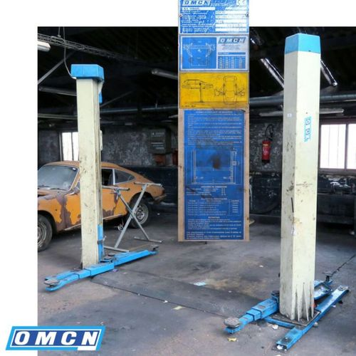 ELECTROMECHANICAL 2 POST LIFT WITH 3200 KG CHASSIS, BRAND OMCN MODEL 199/UE2 M22…