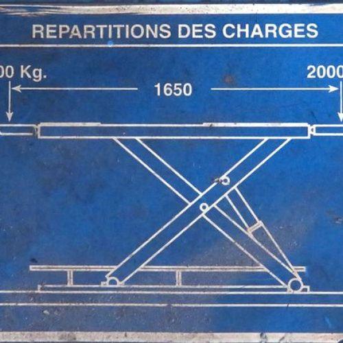 LIFTING PLATFORM 3000 KG OF BRAND OMCN MODEL 552 M243/99, LIFTING HEIGHT 100 CM.…