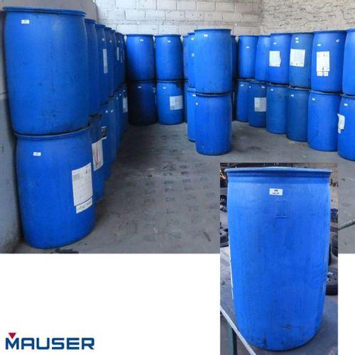 220 LITRE BLUE FOOD GRADE NYLON CANISTER FROM MAUSER BRAND MODEL 220 MH. 44 UNIT…