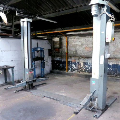 ELECTROMECHANICAL 2 COLUMNS LIFT WITH 3200 KG CHASSIS, BRAND RAVAGLIOLI MODEL KP…