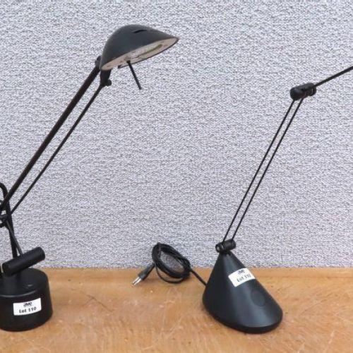 2 LAMPES DE BUREAU DONT UNE DE MARQUE SEYLUMIERE MODELE 0032218 ET L'AUTRE MODEL…