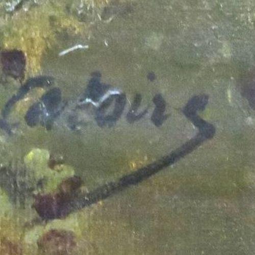 "GUSTAVE ALBERT CATOIRE (1845 1880) ""LE PEINTRE ET SON CHEVALET, SCENE CHAMPETRE""…"
