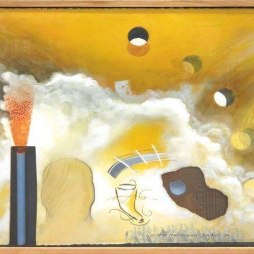 """SERGE ABRIL (NE EN 1949) """"L'OPERATEUR ET SES NOUMENES"""", TECHNIQUE MIXTE SUR PAPI…"""
