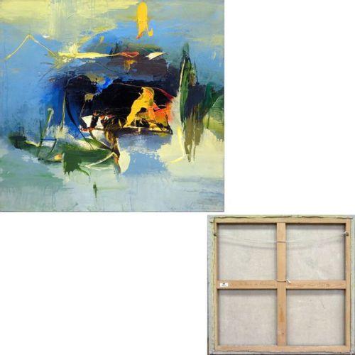 """MORIS GONTARD (NE EN 1940) """"SUR LES TRACES DE ROBINSON"""", ACRYLIQUE SUR TOILE, SI…"""