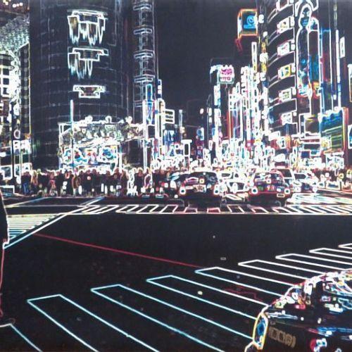 TONY KOUKOS, IMPRESSION SUR TOILE NEON NIGHTS VUE DE TOKYO, EDITION ROSENSTIEL'S…