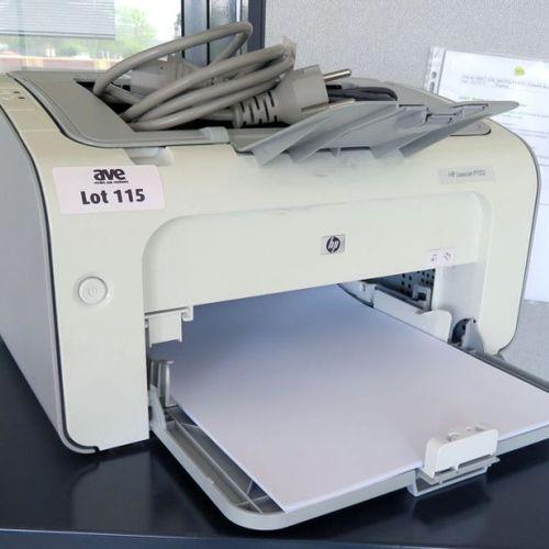 2 IMPRIMANTES DE MARQUE HP MODELE LASER JET P1102. 2 EME ETAGE