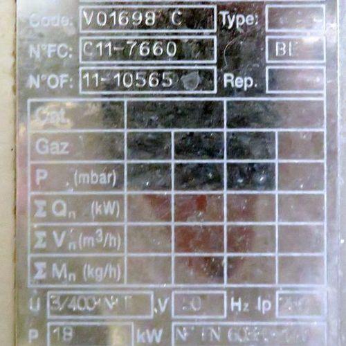 MARMITE ELECTRIQUE EN INOX ALIMENTAIRE DE MARQUE CHARVET MODELE V01698C. 129 X 8…
