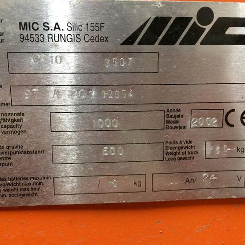 [PR]  For professionals only.  Electric stacker MIC WP10 (2002), maximum capac…