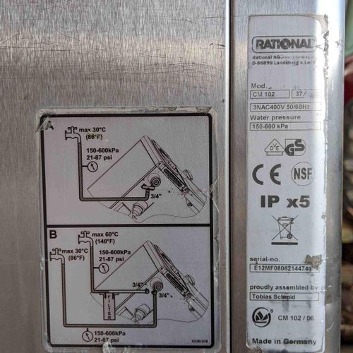 RATIONAL CombiMaster Professional Oven 102, serial number E12MF08062144741, year…