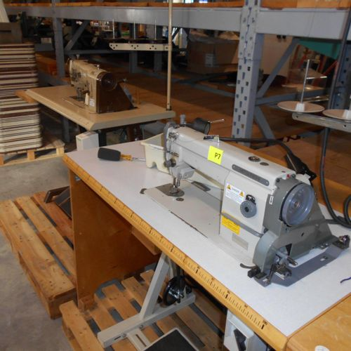 2 flat bed sewing machines, years unknown, 380 V, to be serviced of which :  PF…