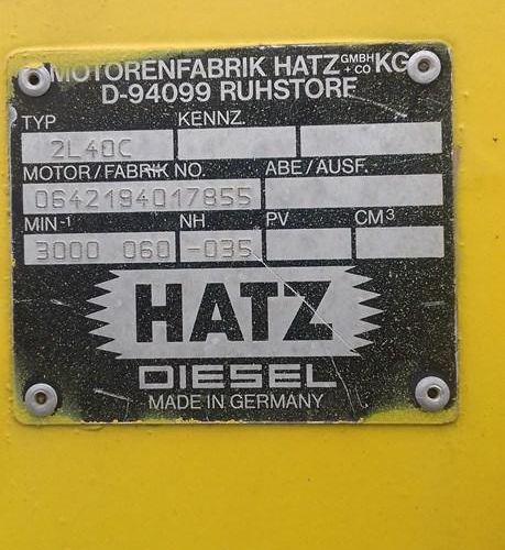 NICOLAS plant shredder, model A5.5XL, HATZ engine, year 1995, sold with its Nico…