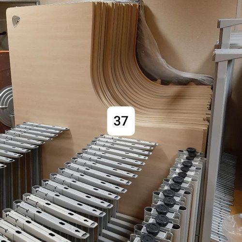 The furniture concerned is composed of :  37 worktops, 37 pedestals, 15 returns…