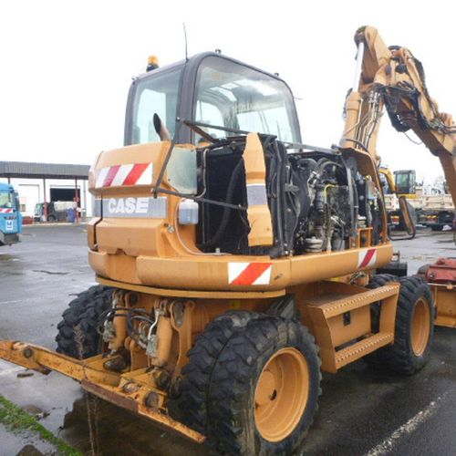 [PR] Reserved for professionals :  CASE wheeled excavator, model WX95, 944 hour…