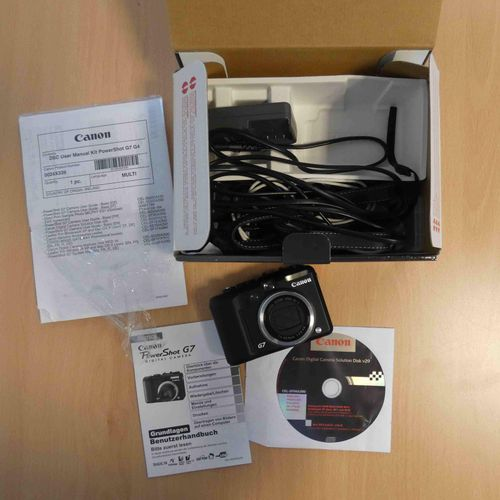 Camera CANON PowerShot G7, n° 4231205938, with battery, charger, memory card, CD…