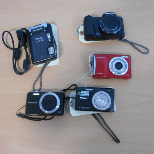 Set of 5 cameras: OLYMPUS STYLUS, with cover, without connector s , OLYMPUS Toug…