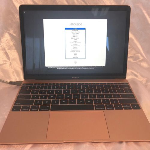 APPLE MacBook 10.1' (2017), model A1534 EMC 3099, QWERTY keyboard, without conne…