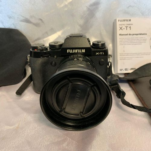FUJIFILM X T1 camera, XF 18 55mm lens, sold with Lowepro backpack, containing 2 …