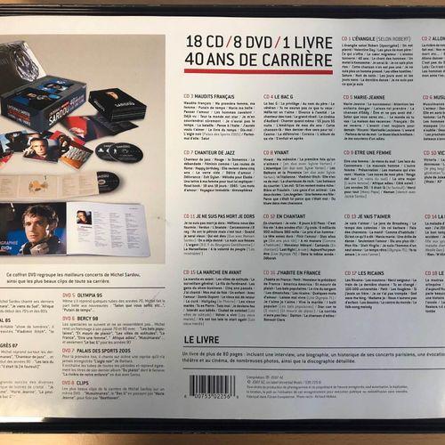 Sardou 40th Anniversary Complete Sardou Box Set, 18 CDs, 8 DVDs, 1 book, slightl…
