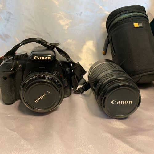 CANON EOS 550D camera, sold with CANON EF S 55 250 mm lens, no connectors, with …