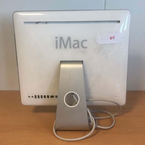 APPLE iMac (2006), model A1208, serial number CK6470E6X1A, striped, with connect…