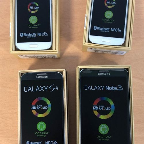Pack of 4 SAMSUNG mobile phones (new condition): Galaxy Note3, Galaxy S4 and 2 G…
