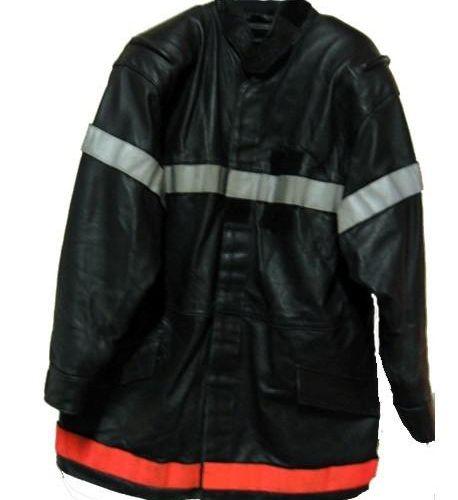Lot de 30 vestes de pompiers en cuir usagées. Multi tailles de S à XXL. Enlèveme…