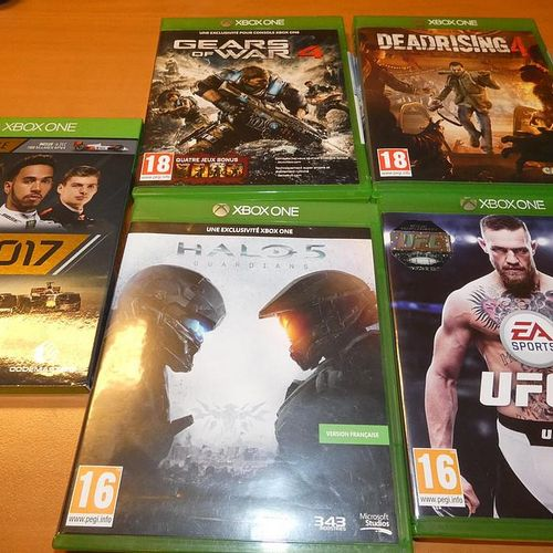 Game console XBOX ONE X 1Tb, missing power cable, with 9 games. Visits and colle…