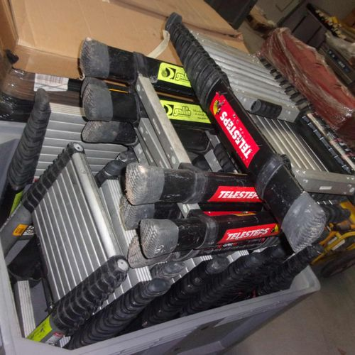 Batch of 20 TELESTEP telescopic ladders. Non conforming material. Service remitt…