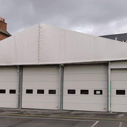 Storage marquee with a surface area of 231 m2, dimensions: length 21m, width 11m…