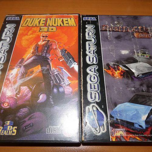 Pack of 10 SEGA Saturn games: RAYMAN, TOMB RIDER, DAYTONA USA, SEGA Rally, THE F…
