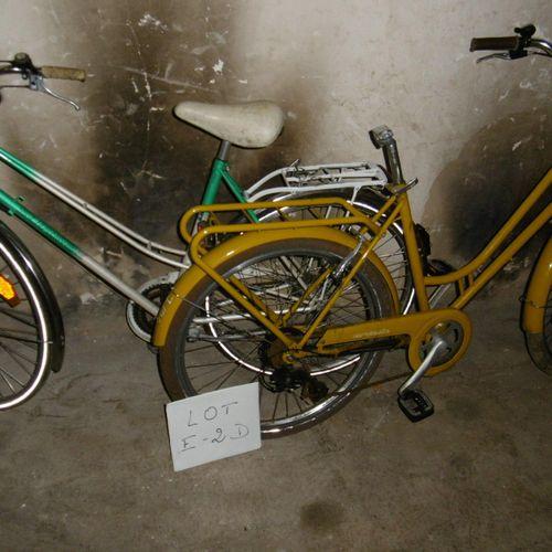 Un lot de5 vélos ( E 2 D) de différentes marques : GITANE, MTB, ALTEC et autres…